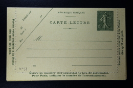 France: Carte Lettre  Sameuse  15 C  Type B8 2x Couleur  Date  922 + 931 - Postal Stamped Stationery