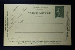 France: Carte Lettre  Sameuse  15 C  Type B8 2x Couleur  Date  922 + 931 - Enteros Postales