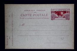 France: Carte Postale  Commémoratif  45 C.   Type  B1 Exposition Des Arts Paris 1925 - Biglietto Postale