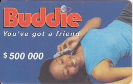 ZIMBABWE - Girl On Phone, Buddie Recharge Card $500000, No Exp.date, Used - Zimbabwe