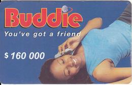 ZIMBABWE - Girl On Phone, Buddie Recharge Card $160000, No Exp.date, Used - Zimbabwe