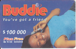 ZIMBABWE - Girl On Phone, Buddie Recharge Card $100000, No Exp.date, Used - Zimbabwe