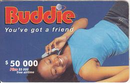ZIMBABWE - Girl On Phone, Buddie Recharge Card $50000, No Exp.date, Used - Zimbabwe