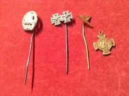 Lot Miniaturen Eisernes Kreuz 1939 An Nadel Sportabzeichen An Nadel  König Grätz 1866 - Abzeichen & Ordensbänder
