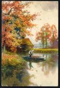 A2883 - Alte Künstlerkarte - Gemälde - Spreewald - Meissner & Buch 2455 - Gel 1922 - 1900-1949