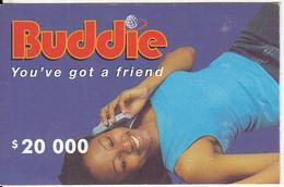 ZIMBABWE - Girl On Phone, Buddie Recharge Card $20000, Exp.date 31/12/04, Used - Zimbabwe