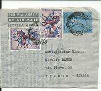 SOM038 - SOMALIA - BIGLIETTO POSTALE PER VIA AEREA - DA MOGADISCIO A TRENTO -  VIAGGIATA 22.05.1965 - Somalia (1960-...)