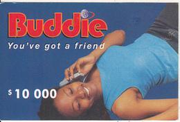 ZIMBABWE - Girl On Phone, Buddie Recharge Card $10000, Exp.date 31/12/04, Used - Zimbabwe