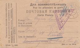 1917 RUSSLAND Zensurierte Pk Gel.n.Wien XVIII