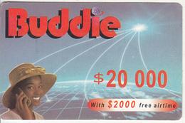 ZIMBABWE - Girl On Phone, Buddie Recharge Card $20000(thin), Exp.date 31/12/04, Used - Zimbabwe