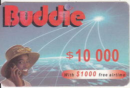 ZIMBABWE - Girl On Phone, Buddie Recharge Card $10000(thin), Exp.date 31/12/04, Used - Zimbabwe