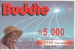 ZIMBABWE - Girl On Phone, Buddie Recharge Card $5000(thin), Exp.date 31/12/04, Used - Zimbabwe
