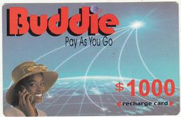 ZIMBABWE - Girl On Phone, Buddie Recharge Card $1000(thin), Exp.date 31/12/04, Used - Zimbabwe