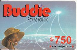 ZIMBABWE - Girl On Phone, Buddie Recharge Card $750(thin), Exp.date 31/12/04, Used - Zimbabwe