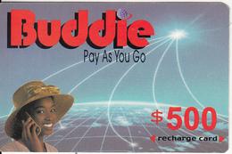 ZIMBABWE - Girl On Phone, Buddie Recharge Card $500(thin), Exp.date 31/12/04, Used - Zimbabwe