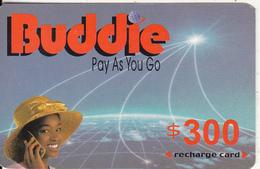 ZIMBABWE - Girl On Phone, Buddie Recharge Card $300(thin), Exp.date 31/12/04, Used - Zimbabwe
