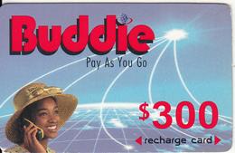 ZIMBABWE - Girl On Phone, Buddie Recharge Card $300(thick), Exp.date 30/04/04, Used - Zimbabwe