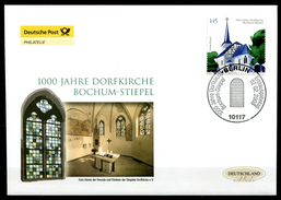 """First Day Cover Germany 2008 Mi.Nr.2646 Ersttagsbrief""""1000 Jahre Dorfkirche Bochum-Stiepel """" 1 FDC - Chiese E Cattedrali"""