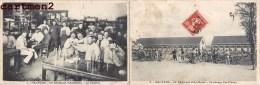 CARTE DOUBLE : ORLEANS HISTORIQUE DU 30e REGIMENT D'ARTILLERIE LA CANTINE GRAISSAGE DES PIECES GUERRE MILITAIRE 45 - Orleans