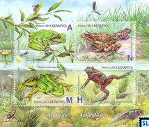 Belarus Stamps 2015, Amphibians, Frogs, MS - Belarus