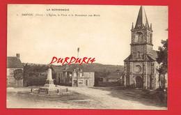 [61] Orne > BANVOU ... L'Église ... La Place Et Le Monument Aux Morts ... - Autres Communes