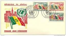 1962  Admission Du Sénégal à L'ONU FDC - Senegal (1960-...)