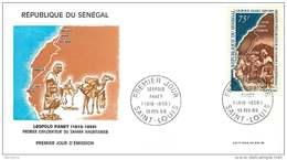 SÉNÉGAL 1968   Léopold Panet Explorateur Du Sahara Mauritanien Carte FDC - Senegal (1960-...)