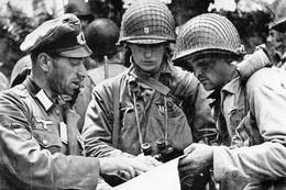 Militaria WW2 - Un Lieutenant Géorgien De L'Armée Allemande Renseigne Les Américains En Normandie En Juin 44 - 1939-45