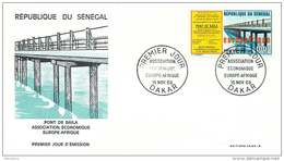 SENEGAL  1969   Europafrique  Pont De Baïla  FDC Non Adressé - Senegal (1960-...)