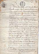 VP9799 - FRONTENAY ROHAN ROHAN - Acte De 1820 - Entre A. BASTARD à STRASBOURG & GIRARD Vente De Terre Situé à FORS - Manuscripts
