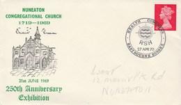 1970 HEALTH EXHIBITION Illus NUNEATON Congrecational CHURCH  COVER Event  GB Religion Stamps Medicine - 1952-.... (Elizabeth II)
