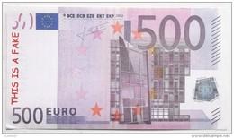 BILLET 500 EURO FICTIF SPECIMEN MEMO - Specimen
