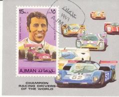 Bf. 309B Ajman 1971 Automobilismo M. Andretti (Piedone) - Alfa Romeo - Pilota Ferrari - Lotus - Wiliams Imperf. Preoblt. - Ajman