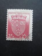 FRANCE Armoirie De Dijon N°559 Oblitéré - 1941-66 Coat Of Arms And Heraldry