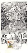 VESTE LIECHTENSTEIN - Walter Von Der Vogelweide, Sonderstempel 11.5.1985 - Marcophilie - EMA (Empreintes Machines)