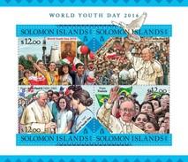 SOLOMON ISLANDS 2016 SHEET WORLD YOUTH DAY POPE JOHN PAUL II JEAN PAUL FRANCIS PAPAS PAPES POPES RELIGION Slm16223a - Solomoneilanden (1978-...)