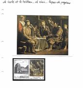 La Carte Et Le Tableau - Le Nain - Repas De Paysans - Art