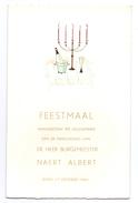 Menu - Feestmaal Inhuldiging Burgemeester Naert Albert - Egem 17.10.1965 - Vancoillie - Menus