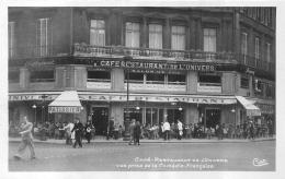 PARIS  CAFE RESTAURANT DE L'UNIVERS VUE PRISE DE LA COMEDIE FRANCAISE - Arrondissement: 01