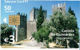 PHONECARDS-- PORTUGAL-CHIP--3 €-- CASTELO DE GUIMARÃES - Portugal