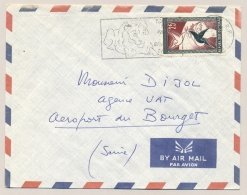 Tchad - 1959 - 25F Stamp On Cover With Lion-cancel To France - Tsjaad (1960-...)