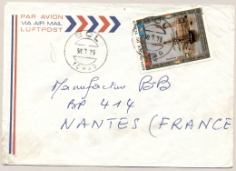 Tchad - 1973 - 40F Sailing Boat  Stamp On Cover From Bol To Nantes / France - Tsjaad (1960-...)