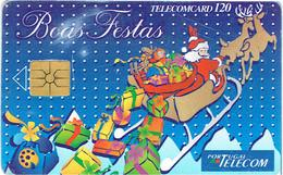 PHONECARDS-- PORTUGAL-CHIP--120--BOAS- FESTAS - Portugal