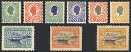 Sc.31/39, 1905 Complete Set Of 9 Values, Mint Original Gum, Fine Quality!