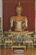 Golden Buddha Of Sukhothai Era. Wat Trai Mit,  Bangkok Thailand.  S-3236 - Buddhism