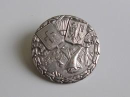 Médaille Broche Ronde 1814-1914 Genève -Suisse-Armoiries Et Drapeau, Lac Léman Et Barques Du Lac Commémoration Genève - Andere Landen
