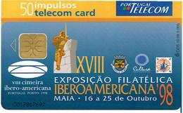 PHONECARDS-- PORTUGAL-CHIP--50 U CIMEIRA IBERO- AMERICANA--  10.98---5005 - Portugal