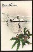 BUON NATALE -  VIAGGIATA   NEL 1941 (20) ACQUERELLATA - Noël