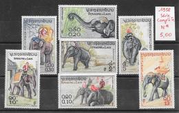 Mammifère - Laos N°44 à 50 éléphant Elephant Elefant 1958 * - Laos