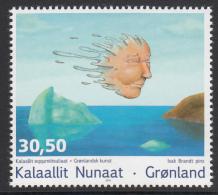 Greenland MNH 2014 30.50k Painting By Isak Brandt - Contemporary Greenland Art - Groenland